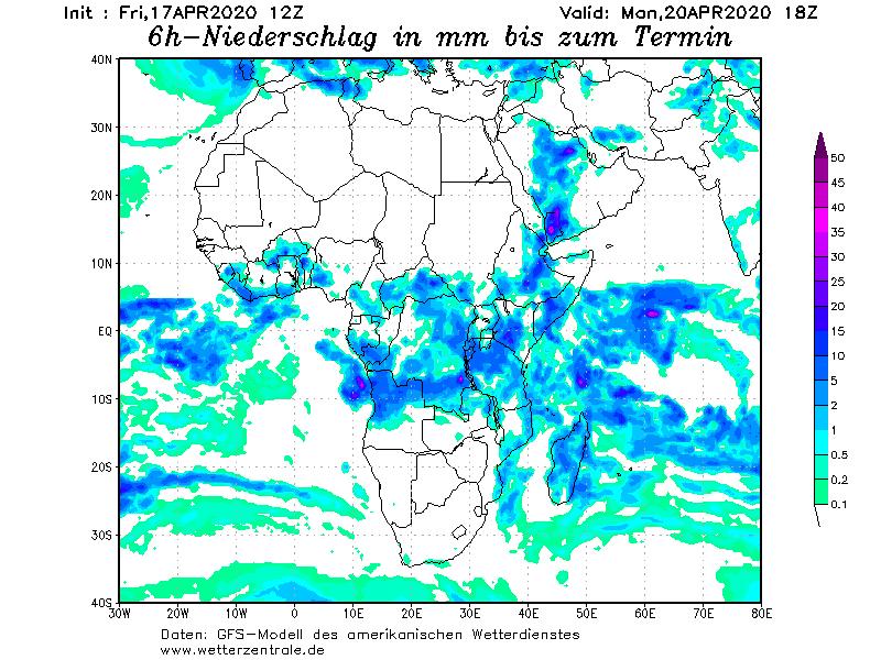 156 توقعات الامطار من الموديل الألماني