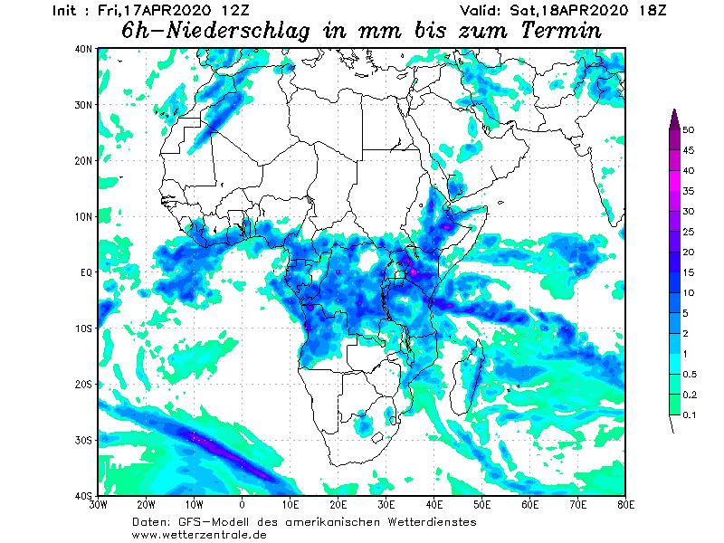 60 توقعات الامطار من الموديل الألماني