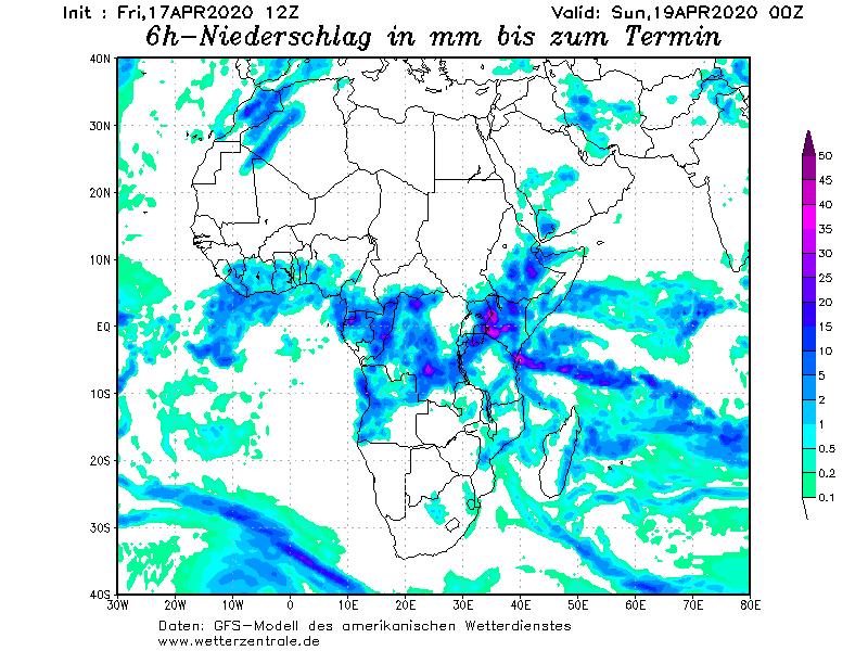 72 توقعات الامطار من الموديل الألماني